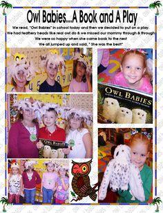 Owl Babies Play Owl Babies, Baby Owls, Baby Play, Book Activities, Kindergarten, Lettering, Teaching, Books, Fun