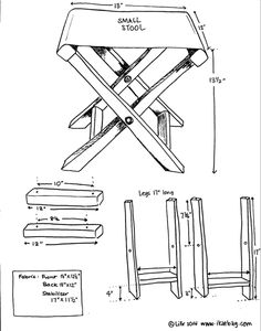How to: Make Your Own Folding Camp Stool  | Man Made DIY  |  Crafts for Men | Keywords: fabric, camping, stool, outdoor