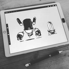 Robots   #procreateapp #sketch #art #digitalpainting #characterdesign