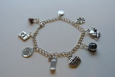 Geocaching Silver Charm Bracelet with Customized Hand Stamped Charm. $22.00, via Etsy.