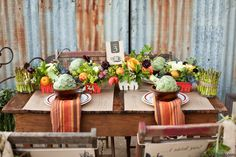 Stunning Farm Inspired tablescape by Jen Rios Designs.