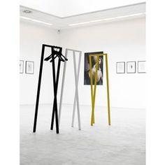 Designer Leif Jørgensen created the Loop Stand Hall wardrobe for the Danish label HAY. The Loop Stand Hall wardrobe is characterized by its clear design, giving Hall Wardrobe, Hay Design, Design Shop, Stand Design, Hall Stand, Standing Coat Rack, Coat Stands, Coat Hooks, Design Furniture