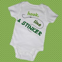 HOOK LINE and STINKER Baby Bodysuits Tot Tees Infant by MyCowDazy, $14.00