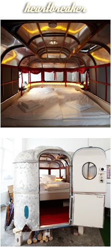 Hotel Huettenpalast, Berlin, Germany. Sleep in a converted caravan for $85.