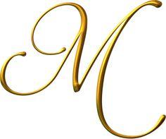 "Photo from album ""Jaguarwoman Wedding Gold Alphabet"" on Yandex. Fancy Letters, Gold Letters, Monogram Letters, Handwritten Letters, Molduras Vintage, M Tattoos, Stylish Alphabets, Vintage Typography, Free Machine Embroidery Designs"