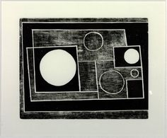 Ben Nicholson OM 'abstract', 1934   woodcut © Angela Verren Taunt 2014. All rights reserved, DACS