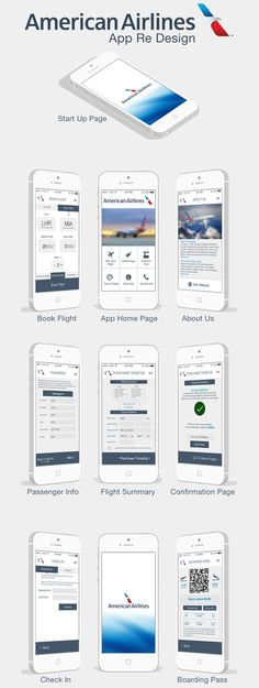 American Airlines mobile application redesign