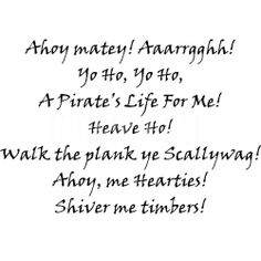 pirate quotes | Pirate Sayings - Wall Stickers Decals