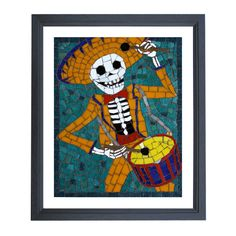 Paolo Limited Edition Giclee Print   #sugarskull #dayofthedead #skulls #skeleton #gifts #homeware #homedecor