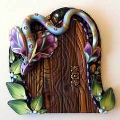 Dragon Fairy Door by Claybykim on Etsy