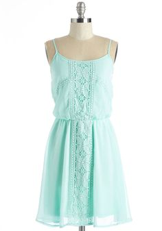 Cheer or Far Dress. Wherever you are in this pale mint dress, a joyful feeling is sure to fill the air! #blue #modcloth