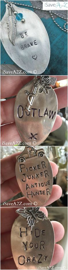 How To Make A Stamped Spoon Necklace - iSaveA2Z.com