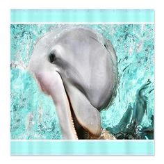 Delightful Smiling Happy Dolphin Shower Curtain