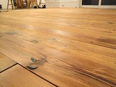 Installing the Antique Heart Pine Flooring