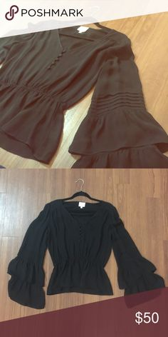 Parker Bell Sleeve Top Worn a handful of times in great condition Parker Tops Blouses