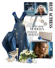 """""""Best Actress"""" by poshtrish ❤ liked on Polyvore featuring Jimmy Choo, Oscar de la Renta, Oscar and Bestactress"""