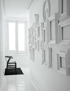 white pictureless frames
