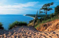 Empire Bluff Sleeping Bear Dunes #Michigan #Travel #Tourism