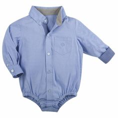 Andy and Evan blue lagoon oxford shirtzie