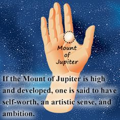 Mount of Jupiter significance in palm reading
