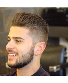 Men's fade haircut can come in various forms and you need to know the different ones before you can choose the right one for you. Backcombed Hairstyles, Hairstyles Haircuts, Haircuts For Men, Nice Hairstyles, Stylish Hairstyles, Curly Haircuts, Modern Haircuts, Formal Hairstyles, Hairstyle Ideas