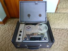 Rare Vintage RCA Type EDT-3 Scholastic Portable Reel to Reel Tape Recorder Works #RCA