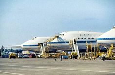 PAN AM 747s @ Boeing Field in Washington before delivery in 1969