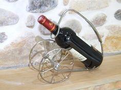 Bottle holder Cannon // Wheeled bottle holder // Fancy table bottle holder // Wine bottle carrier - pinned by pin4etsy.com