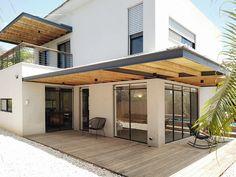 Terrace Design, Roof Design, Patio Design, Exterior Design, House Design, Modern Pergola, Outdoor Pergola, Patio Shade, House Siding
