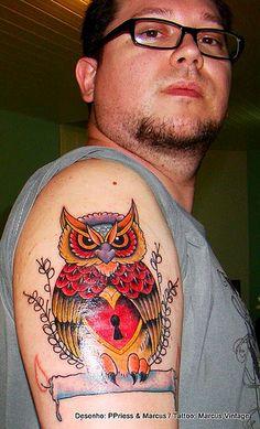 pretty cool owl tattoo.