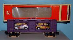 Lionel Train Boxcar Carrying Johnny Lightning Die Cast Car Replicas #Lionel