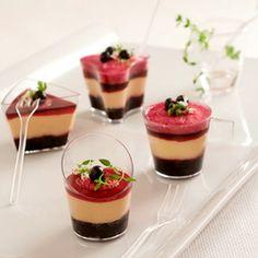 Foie gras panna cotta with black currants