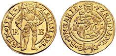 Hungary (Habsburg Rulers) AV Dukat 1531 K-B Krmnitz Mint Emperor Ferdinand I 1521-64 My coll.