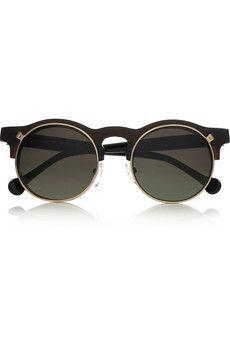ff6aedbb037 CarvenAnastasie flip up round frame acetate sunglasses Cool Glasses
