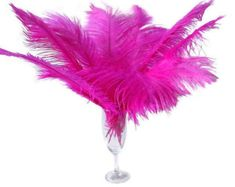 """1 pc of 22-24/"""" Hot Pink Ostrich Drab Plume Feather for Wedding Millinery Bouquet"""