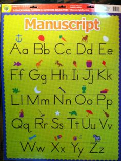 2 Set Educational Charts :Manuscript  & Cursive Alphabet  Charts! Great Resource for Teachers, Daycares, Parents & Homeschoolers!   eBay Only  $4.00 and I have only 3 sets available.