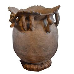African Water Vessel | From a unique collection of antique and modern vases and vessels at https://www.1stdibs.com/furniture/decorative-objects/vases-vessels/
