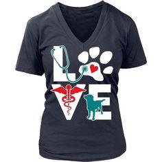 Veterinarian Love dog v.Teal T-shirt