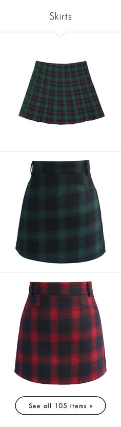 """""""Skirts"""" by marleen03 ❤ liked on Polyvore featuring skirts, green tartan skirt, green skirt, tartan skirt, green pleated skirt, pleated skirt, mini skirts, bottoms, green plaid mini skirt and tartan plaid skirt"""