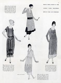 Chanel 1918 Four models from Chanel prescribed by Paris and Patriotism