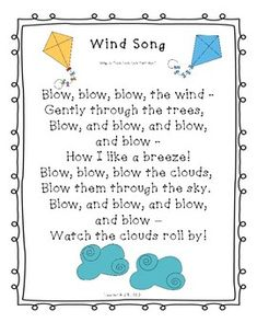 Browse over 30 educational resources created by Teacher and EMT in the official Teachers Pay Teachers store. Weather Activities Preschool, Preschool Poems, Kindergarten Poems, Preschool Music, April Preschool, Preschool Learning, Spring Songs For Preschool, Weather Lesson Plans, Weather Lessons