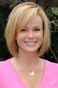 Amanda Holden's bob is full of body and bounce while the soft side sweeping fringe really flatters her face shape. (So glad you made it to Pinterest, Kelly!) :)