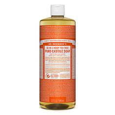 Bronner's Tea Tree Pure-Castile Liquid Soap is woodsy and medicinal. It contains pure tea tree oil, good for acne-prone skin and dandruff. Huile Tea Tree, Bronners Soap, Best Body Wash, Tea Tree Soap, Liquid Castile Soap, Organic Soap, Organic Oils, Tree Oil, Pure Essential Oils
