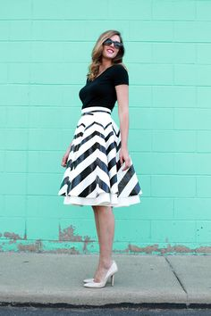 What I Wore: Chevron Swirl, Duct Tape Skirt, Chevron Skirt, Jessica Quirk, black and white, whatiwore.tumblr.com
