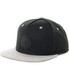 Neff XZ Black   Heather Grey Snapback Hat  a6ba373fb61