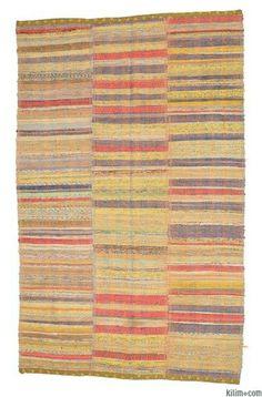 Vintage Anatolian Chaput (rag rug) Rug