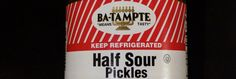 "Ba-Tampte ""Means Tasty"" - great logo and slogan Half Sour Pickles, Great Logos, Slogan, Tasty"
