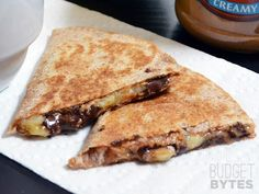 Peanut Butter Banana Quesadillas - Nutella?