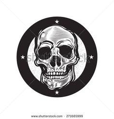 skull vintage illustration - stock vector
