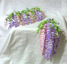 Pink and purple wisteria set  reserved for Ariel by ImlothMelui